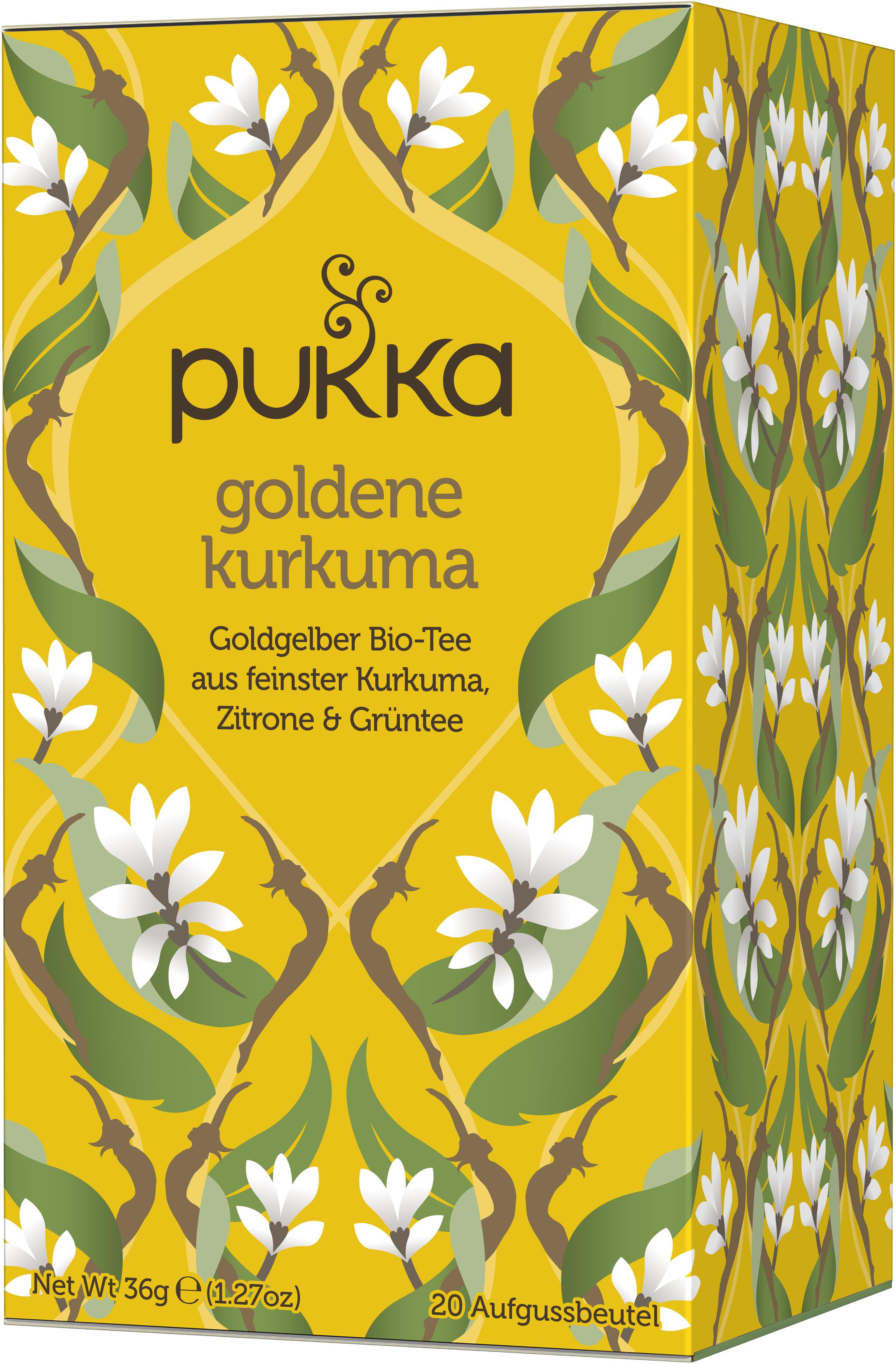 Goldene Kurkuma, bio-Tee