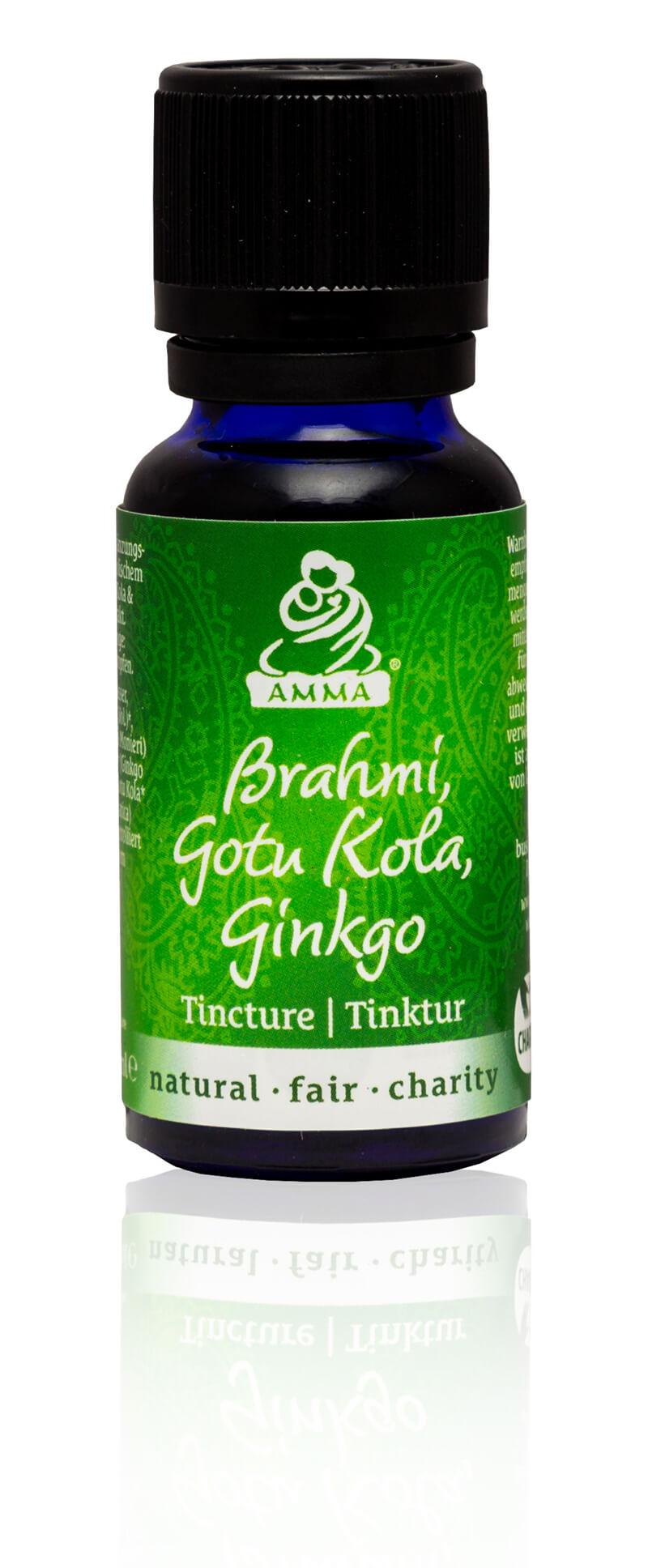Brahmi, Gotu Kola & Gingko Tinktur, bio
