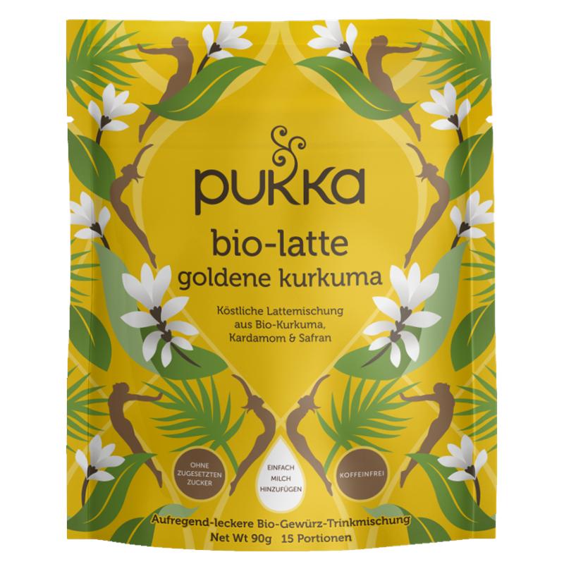 Goldene Kurkuma, bio-Latte