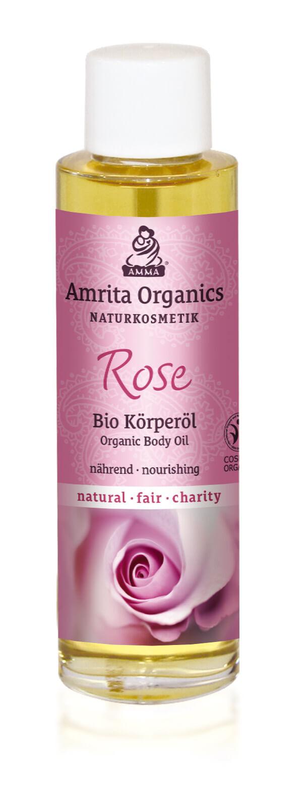 Körperöl Rose, bio